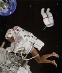 Astronauta desprotegido
