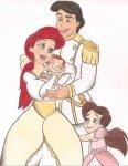 Ariel, Melody, Erik e uma nova criança
