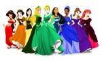 As princesas nas cores do arco-íris