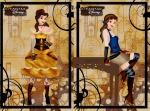 Bella com roupas no estilo Steampunk