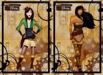Mulan e Pocahontas no estilo Steampunk